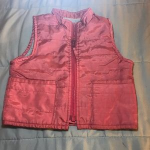 Toddler GAP kids vest 12-18 mon. coral w/ gray